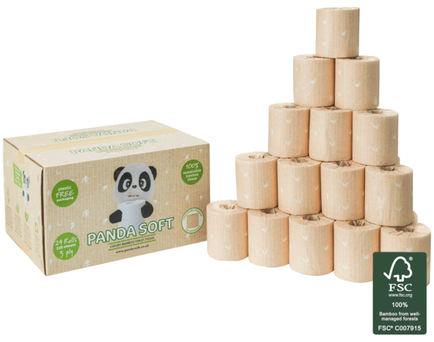 Luxury Bamboo Toilet Paper - 24 Rolls