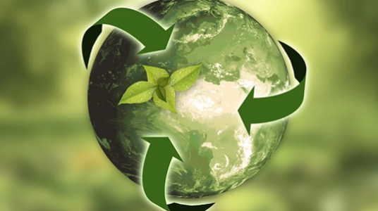 Recyclable Green World Logo